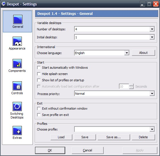 Dexpot virtual desktops