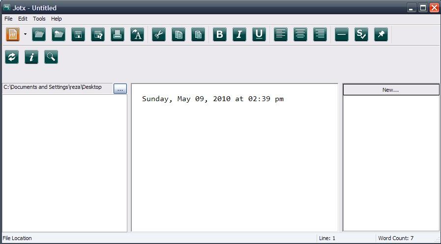 Jotx: Free Minimalist Word Processor