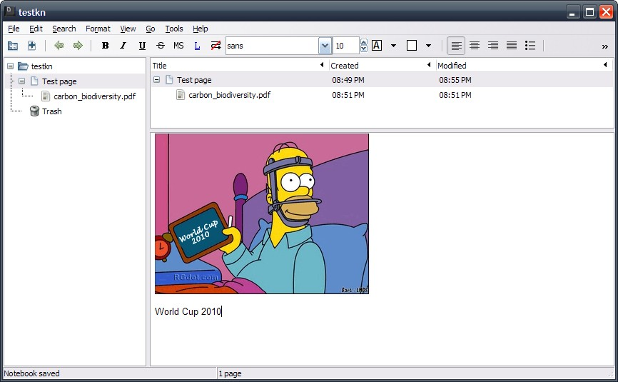 KeepNote: Open Source And Cross Platform Notes Organizer