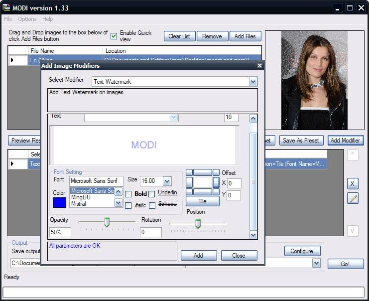 Freeware Modi Is Easy Image Processing