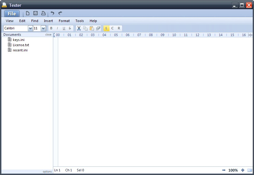 Texter: Freeware And Attractive Text Editor