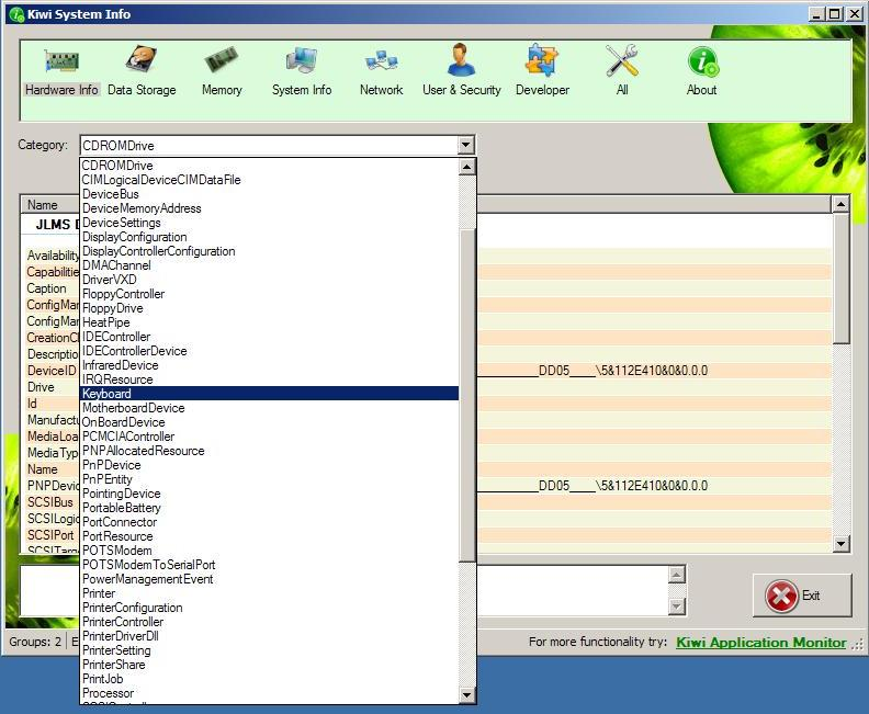 Kiwi System Info: Freeware Advanced System Specs