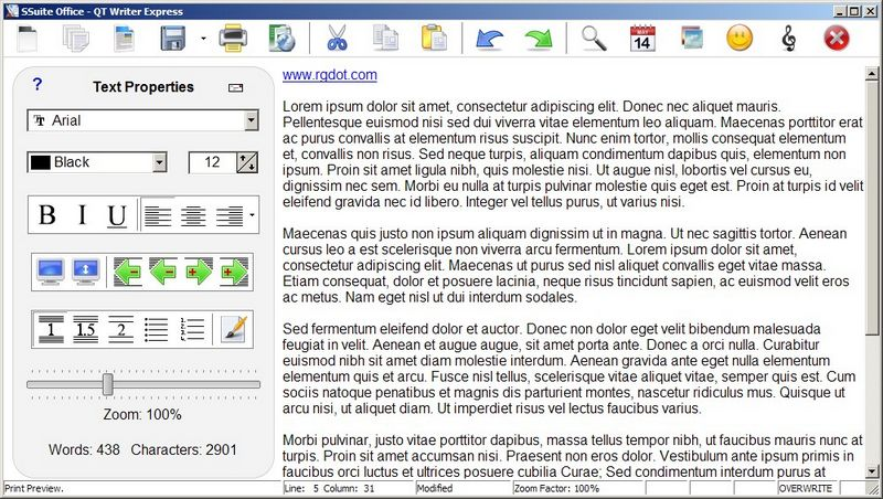 QT Writer Express: Light Freeware Word Processor