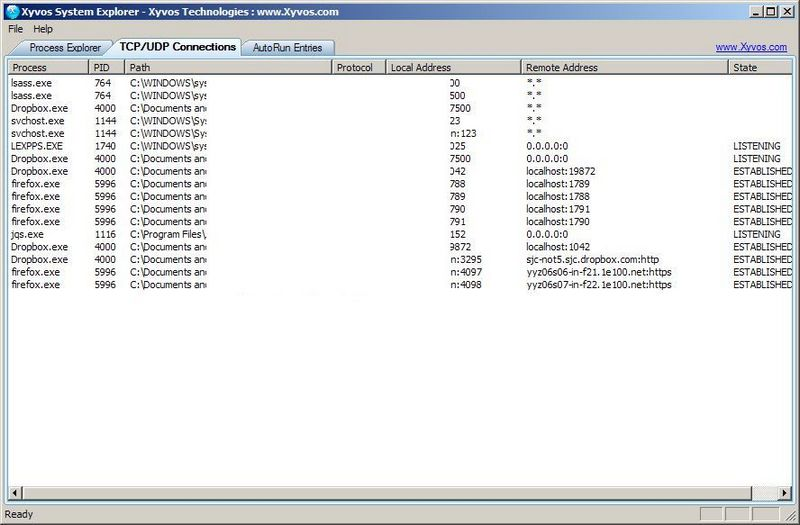Freeware Xyvos System Explorer