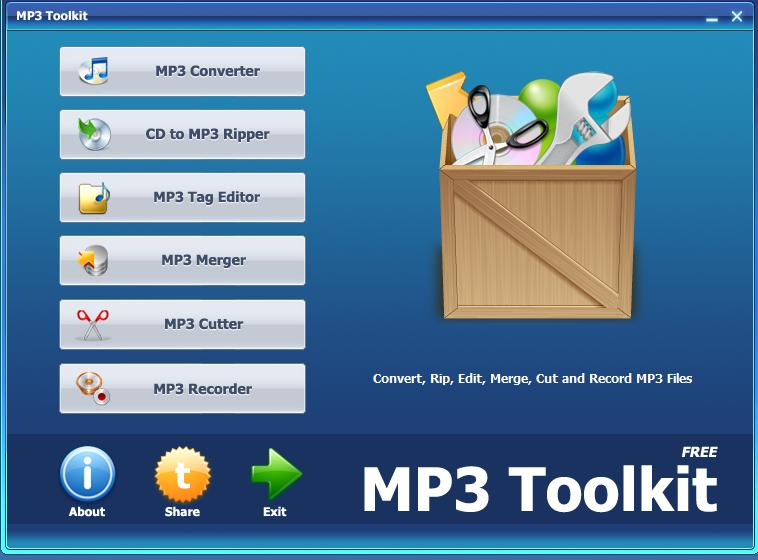 MP3 Toolkit: Freeware All In One Audio Utility