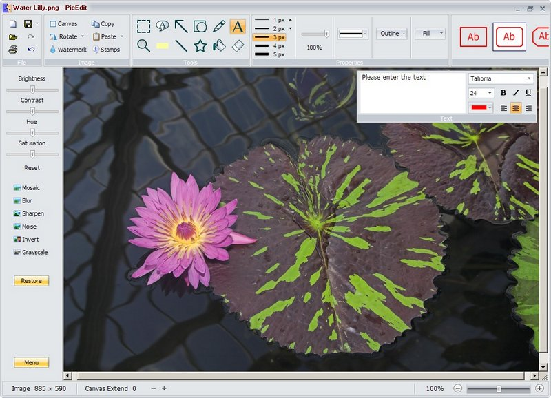 Freeware, Useful Image Editor: PicEdit
