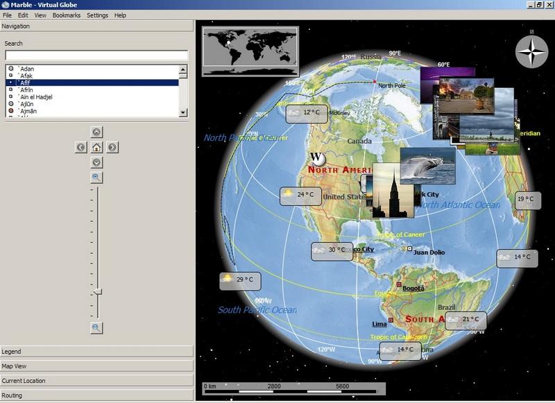 Marble: Mutliplatform Virtual Globe And World Atlas