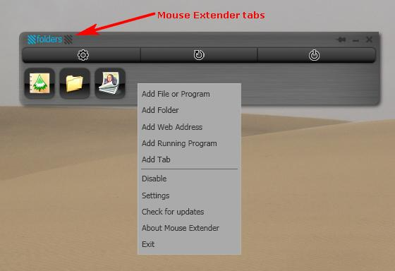 Freeware Launcher: Mouse Extender