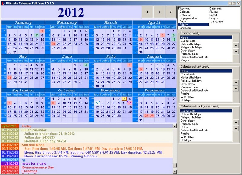 Ultimate Calendar Is Now Freeware