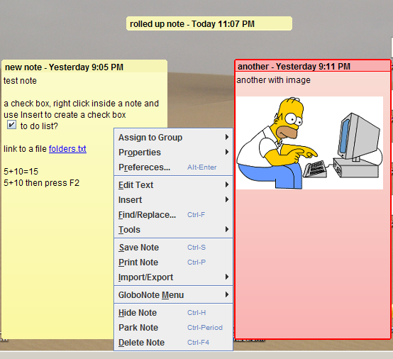 GloboNote: Desktop Sticky Notes