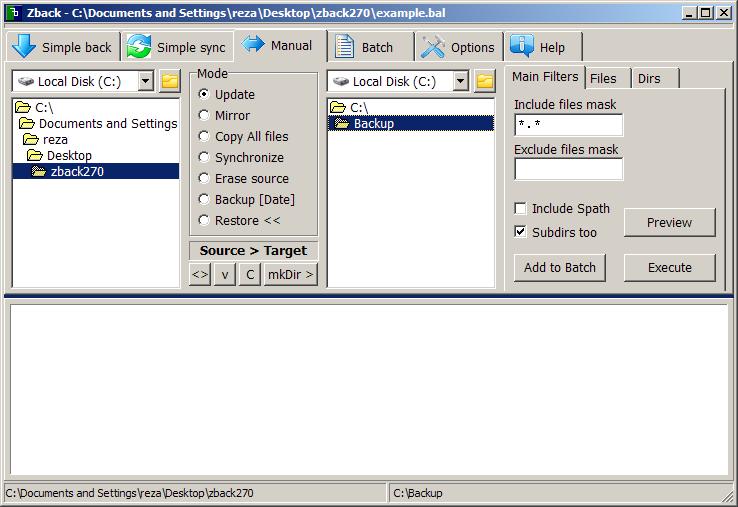 Zback: Freeware Backup And Synchronization
