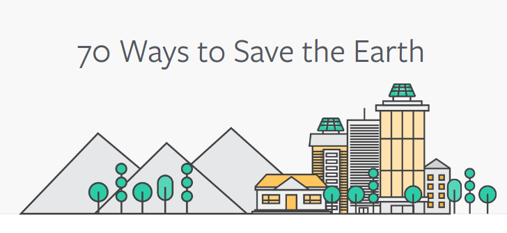 70 Ways to Save the Earth