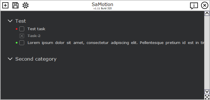 SaMotion: Minimalist To Do List
