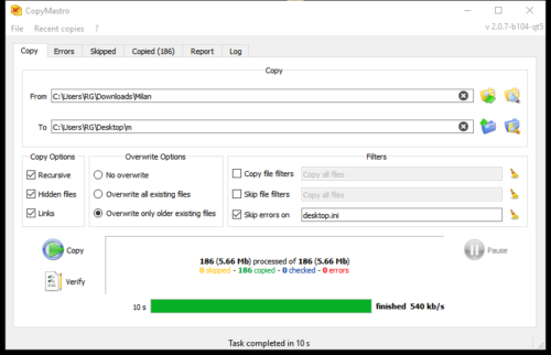 CopyMastro Open Source Copy And Backup
