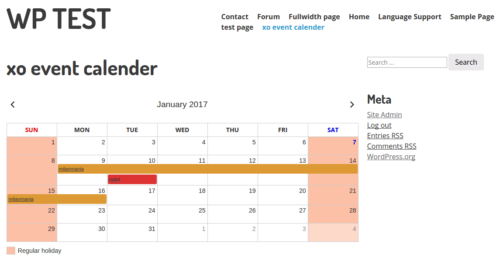 XO Event Calendar For WordPress