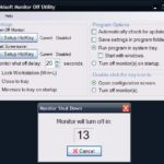 Monitor Off Utility Freeware