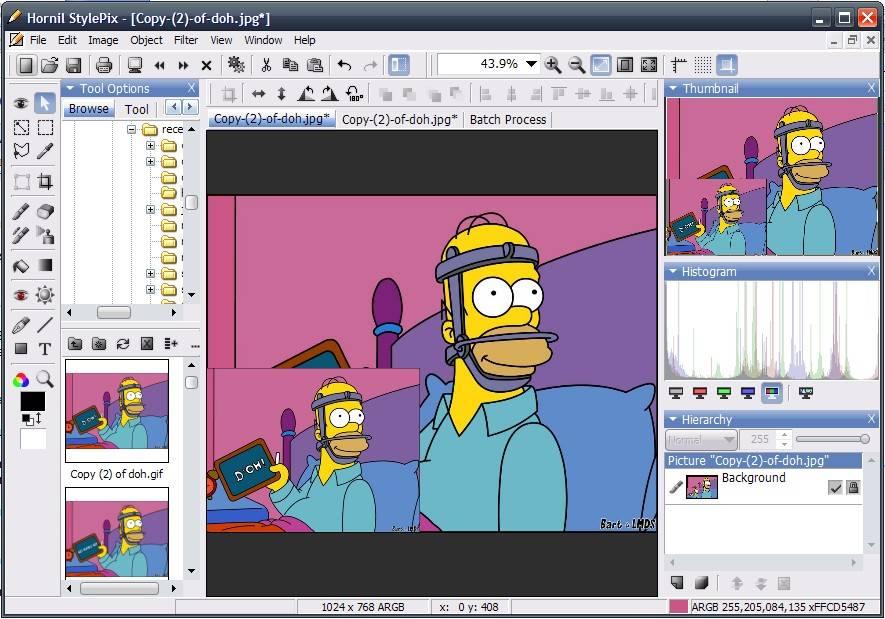 Hornil StylePix, Freeware Photoshop Alternative