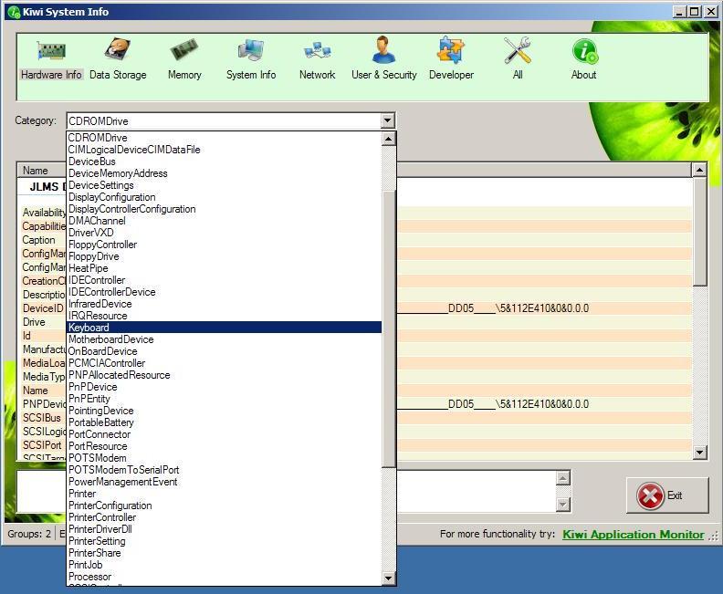 Kiwi System Info