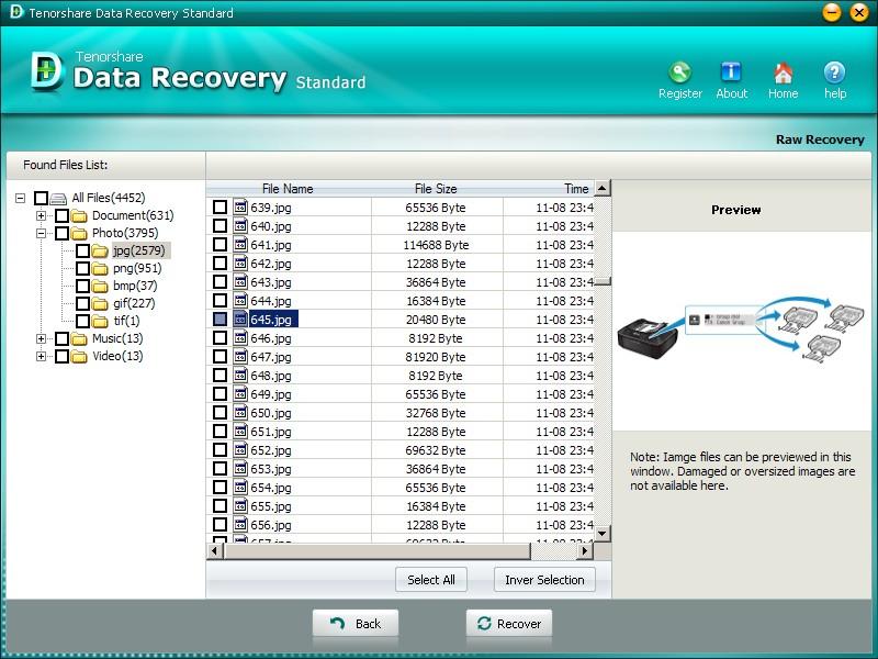 Tenorshare Data Recovery Standard