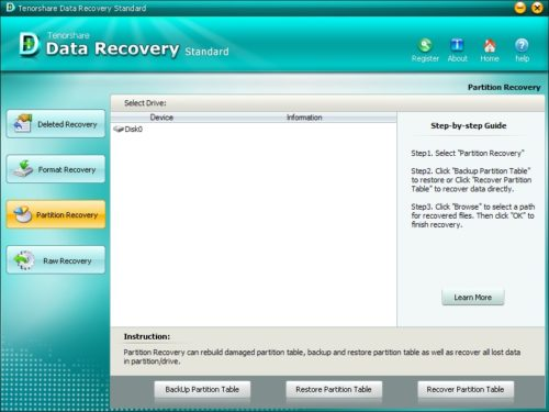 Tenorshare Data Recovery Standard