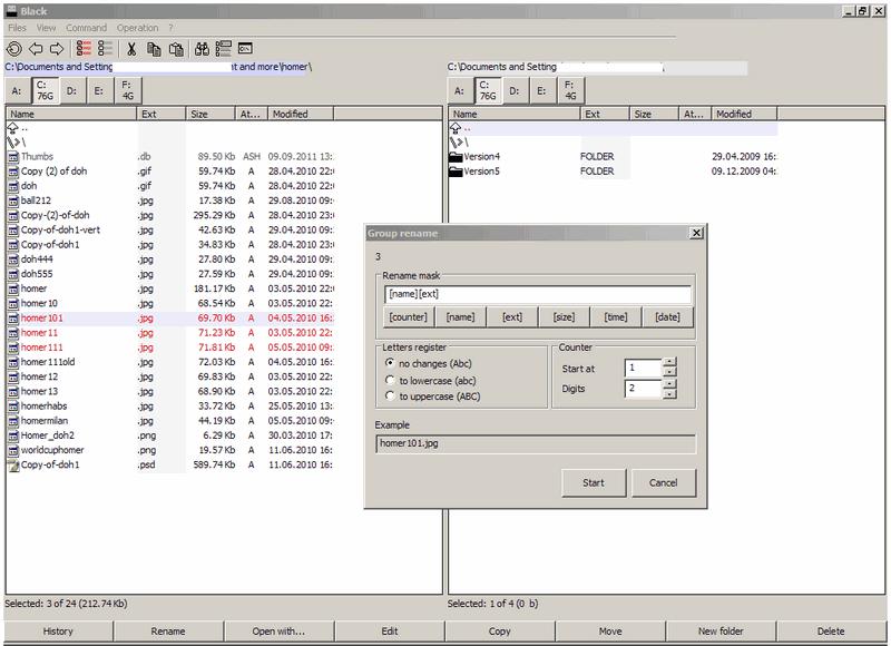 Black, File Manager