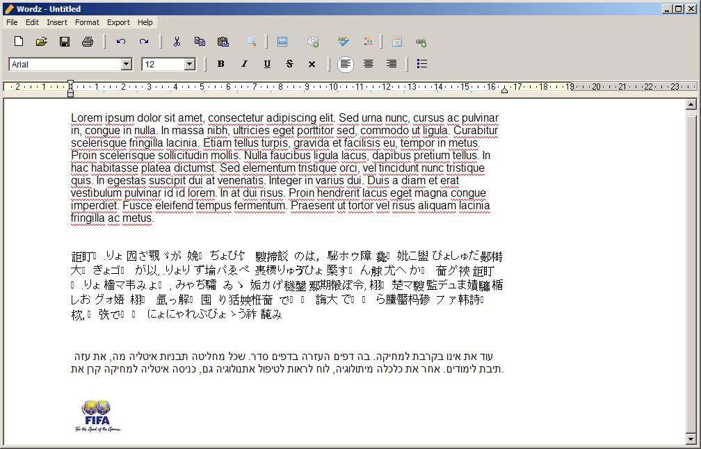 Wordz, Word Processor